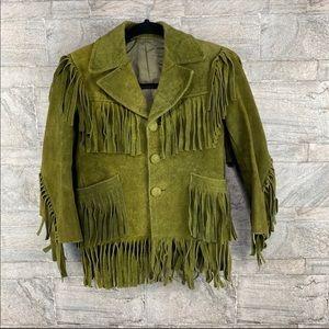 Vintage Barron Suede Fringe Jacket